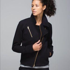 Lululemon Gold Zip Bomber Jacket